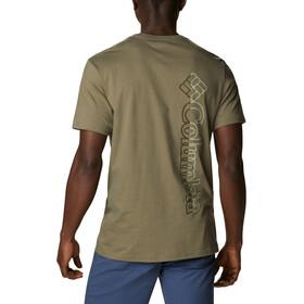 Columbia CSC Basic Logo Camiseta Manga Corta Hombre, stone green vertical